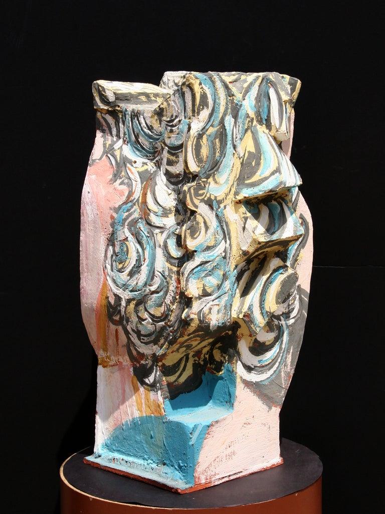 Unique Ceramic Cubist Bust For Sale 3