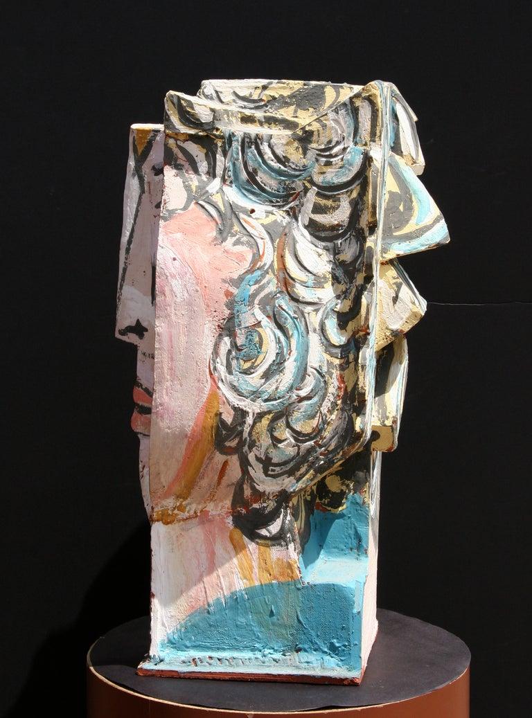 Unique Ceramic Cubist Bust For Sale 4