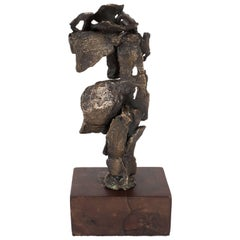 Untitled - Abstract Expressionist/ Brutalist Bronze Sculpture