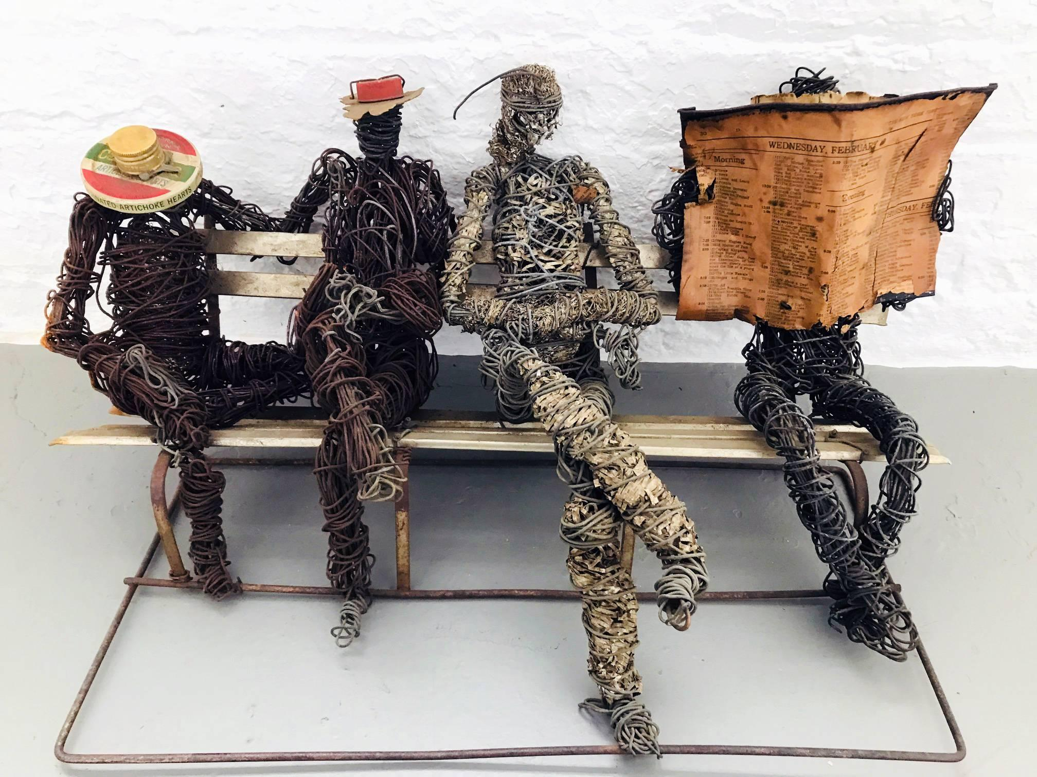 Untitled (4 Figures on a Bench)