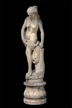 Venus Italian Carved Large Stone Garden Sculpture