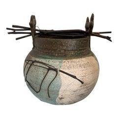 Vintage Studio Pottery Raku