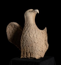 White Marble Sculpture of The Imperial Eagle, Symbol of the Roman Empire