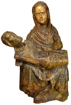 Wooden Pieta, Austria Around 1450