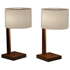 Uno and Osten Kristiansson for Luxus Rosewood Table Lamps