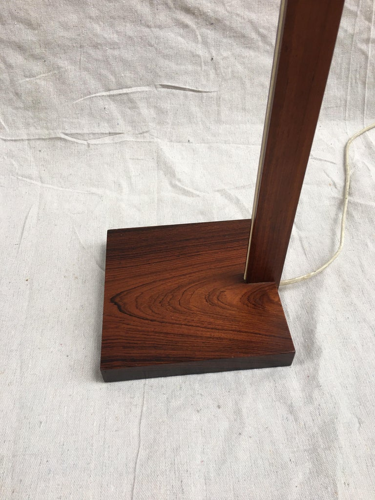 Mid-Century Modern Uno and Osten Kristiansson Rosewood Floor Lamp for Luxus For Sale
