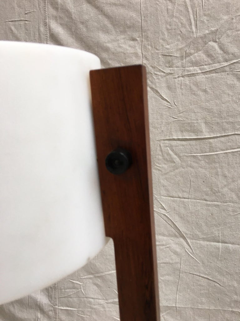 Swedish Uno and Osten Kristiansson Rosewood Floor Lamp for Luxus For Sale