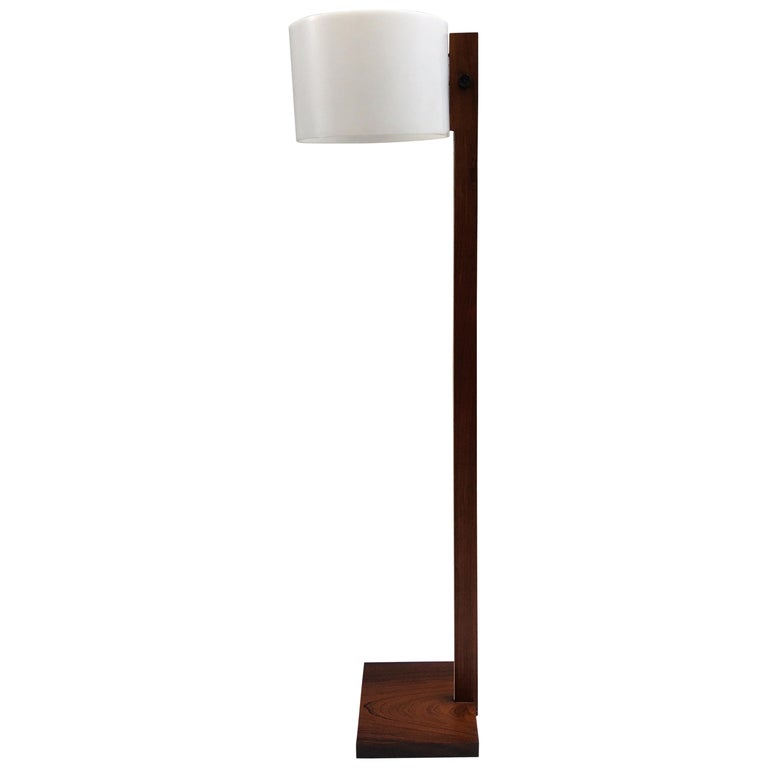 Uno and Osten Kristiansson Rosewood Floor Lamp for Luxus For Sale