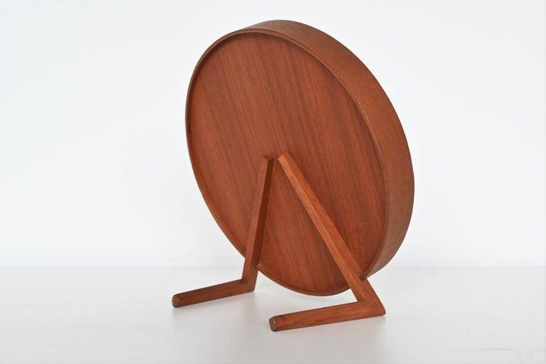 Mid-Century Modern Uno and Osten Kristiansson Teak Table Mirror Luxus, Sweden, 1960 For Sale