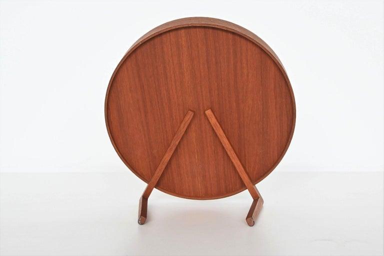 Swedish Uno and Osten Kristiansson Teak Table Mirror Luxus, Sweden, 1960 For Sale