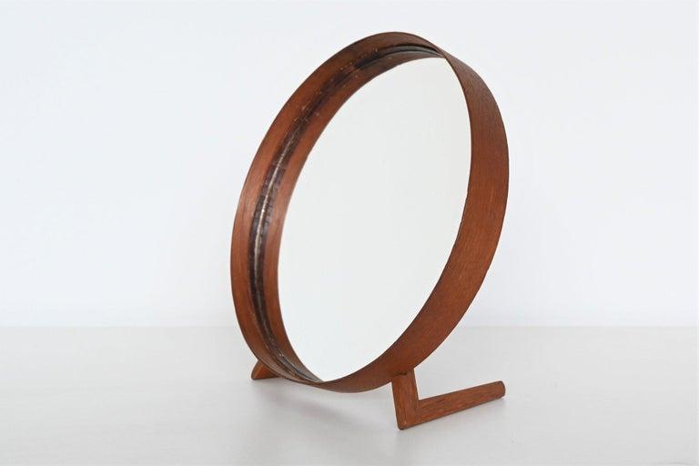 Uno and Osten Kristiansson Teak Table Mirror Luxus, Sweden, 1960 In Good Condition For Sale In Etten-Leur, NL