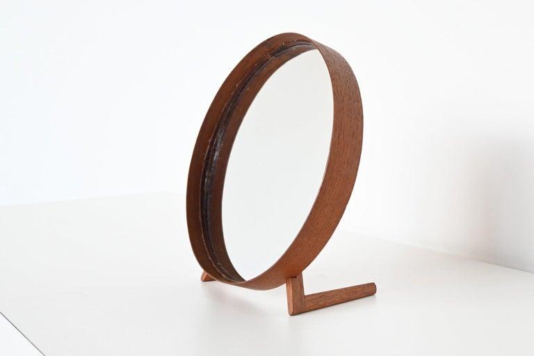 Uno and Osten Kristiansson Teak Table Mirror Luxus, Sweden, 1960 For Sale 2