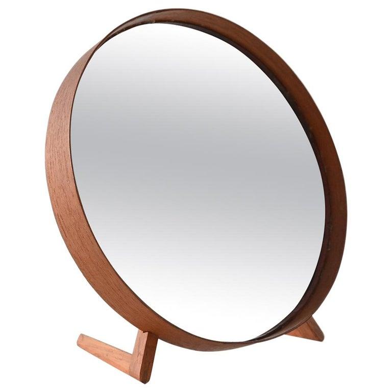 Uno and Osten Kristiansson Teak Table Mirror Luxus, Sweden, 1960 For Sale