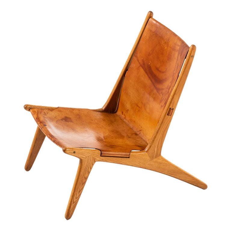 Uno & Östen Kristiansson Hunting Easy Chair Produced by Luxus in Sweden For Sale
