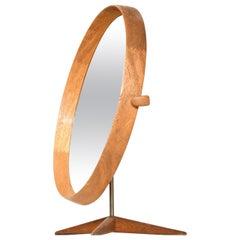 Uno & Östen Kristiansson Table Mirror Produced by Luxus in Vittsjö, Sweden