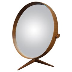 Uno & Osten Kristiansson Teak for Luxus Vanity Mirror