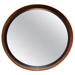 Uno & Östen Kristiansson Teak Mirror by Luxus in Sweden