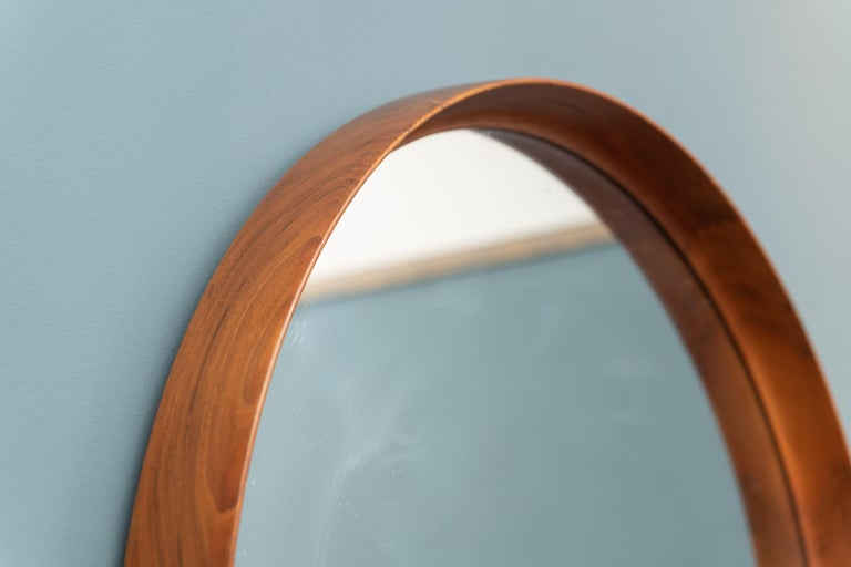 Swedish Uno & Östen Kristiansson Wall Mirror in Teak For Sale