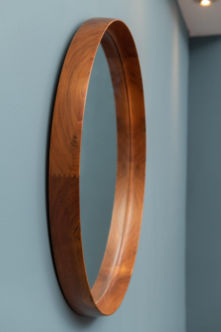 Mid-20th Century Uno & Östen Kristiansson Wall Mirror in Teak For Sale