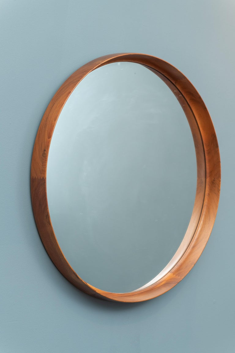 Uno & Östen Kristiansson Wall Mirror in Teak For Sale 1
