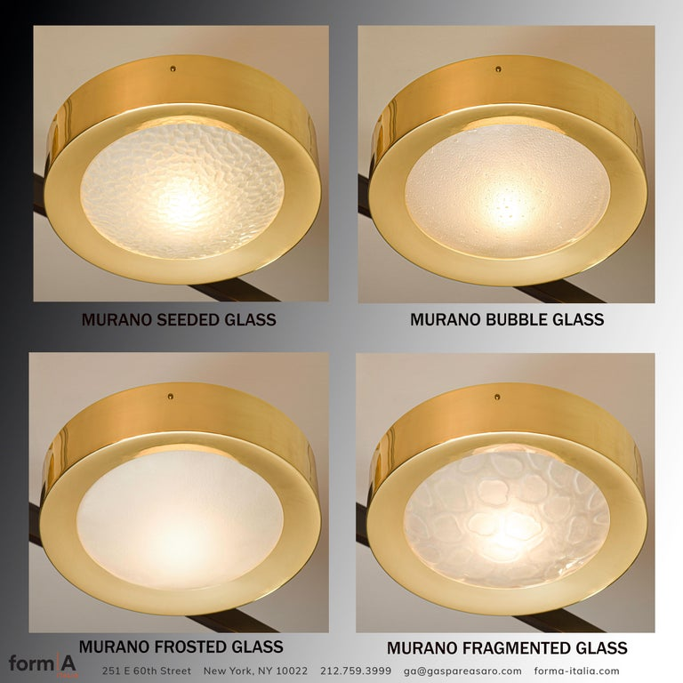 Brass Uno Semi-Flush Mount by form A For Sale