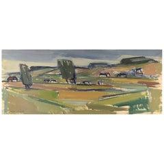 Uno Svärd, Sweden, Oil on Canvas, Modernist Landscape, 1960s-1970s