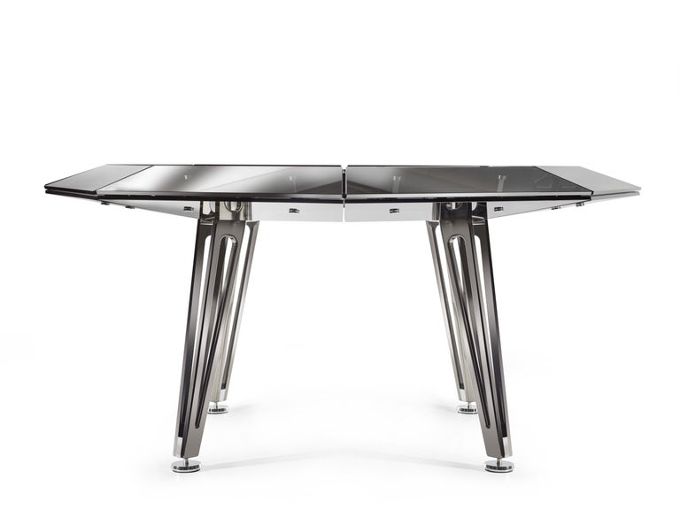 Unootto All Black Marble 8 Player Poker Table by Impatia In New Condition For Sale In Milan, IT