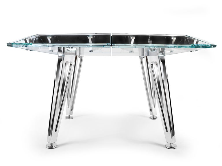 Modern Unootto Black Marble 8 Player Poker Table by Impatia For Sale