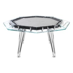 Unootto Marble, 8 Players, Contemporary Design Poker Table by Impatia