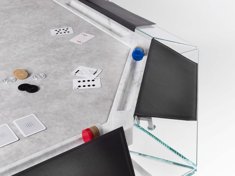 Unootto marble edition - 10 player poker table - by Impatia