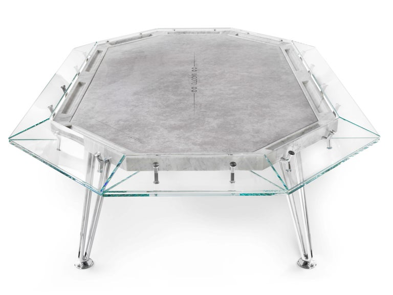 Italian Unootto Marble Edition, 10 Player Poker Table, by Impatia For Sale
