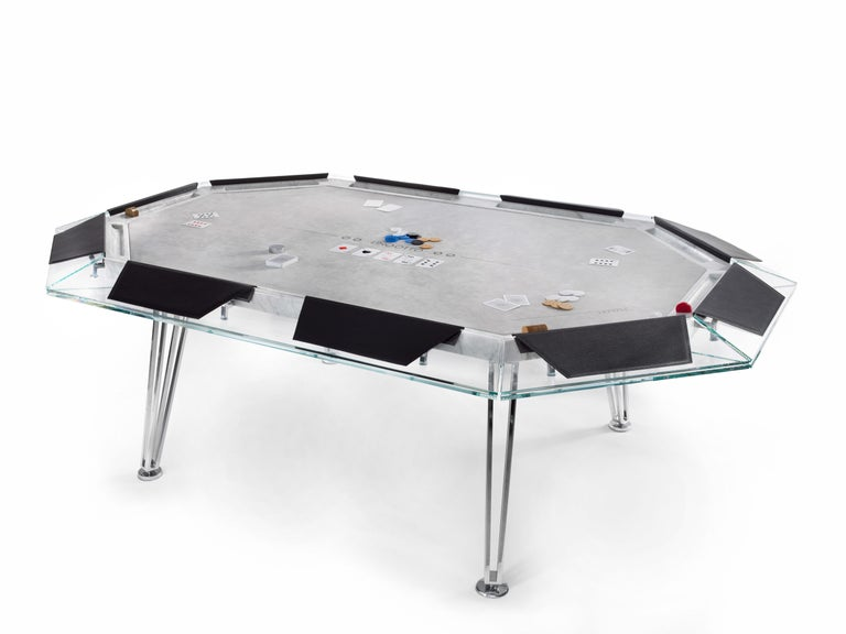 Contemporary Unootto Marble Edition, 10 Player Poker Table, by Impatia For Sale