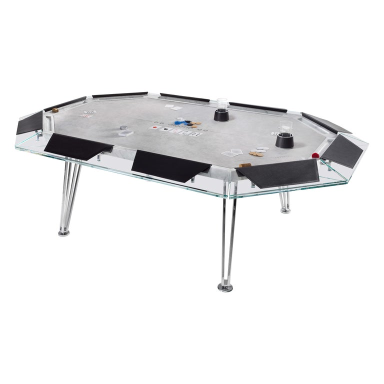 Unootto Marble Edition, 10 Player Poker Table, by Impatia For Sale