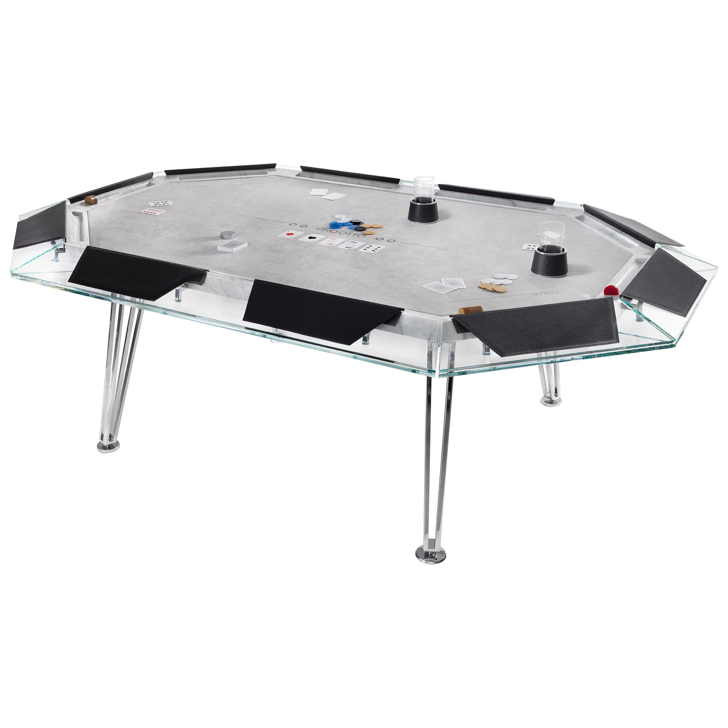 Unootto Marble Edition 10 Player Poker Table by Impatia