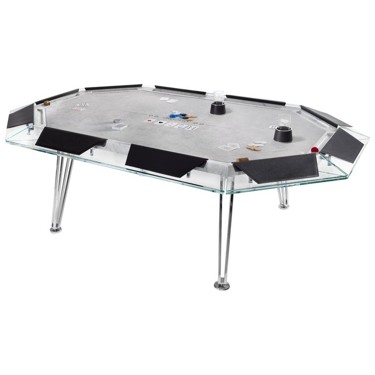 Unootto Marble Edition 10 Player Poker Table by Impatia For Sale
