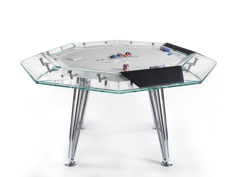 Modern Unootto Marble Edition, 8 Player Poker Table, by Impatia For Sale