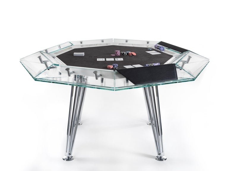 Modern Unootto Marble Edition 8 Player Poker Table by Impatia For Sale
