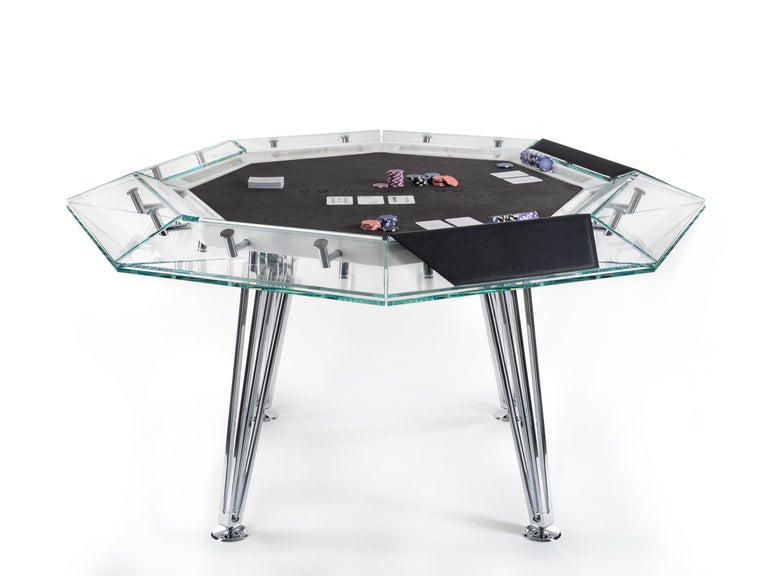 Italian Unootto Marble Edition, 8 Player Poker Table, by Impatia For Sale
