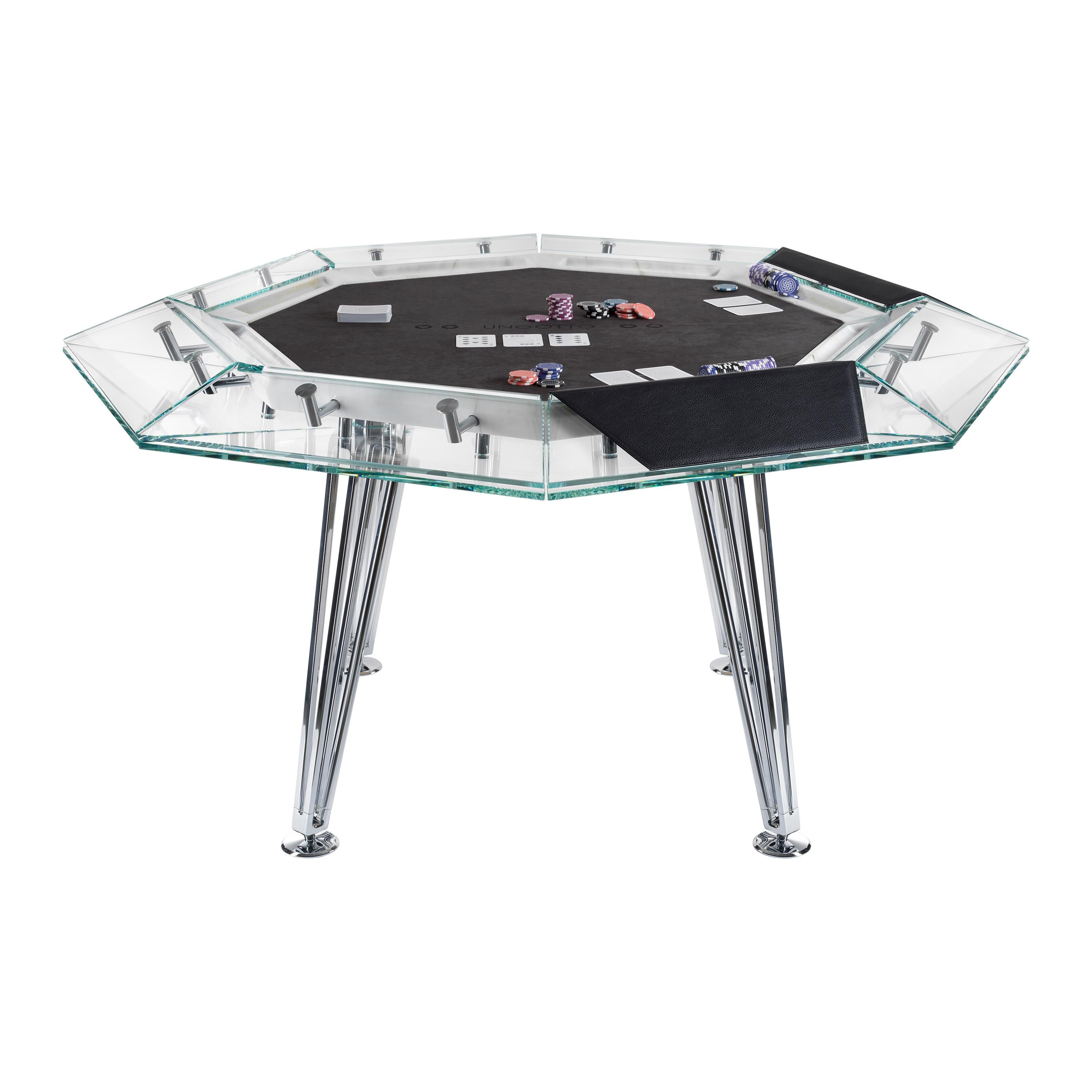 Unootto Marble Edition, 8 Player Poker Table, by Impatia