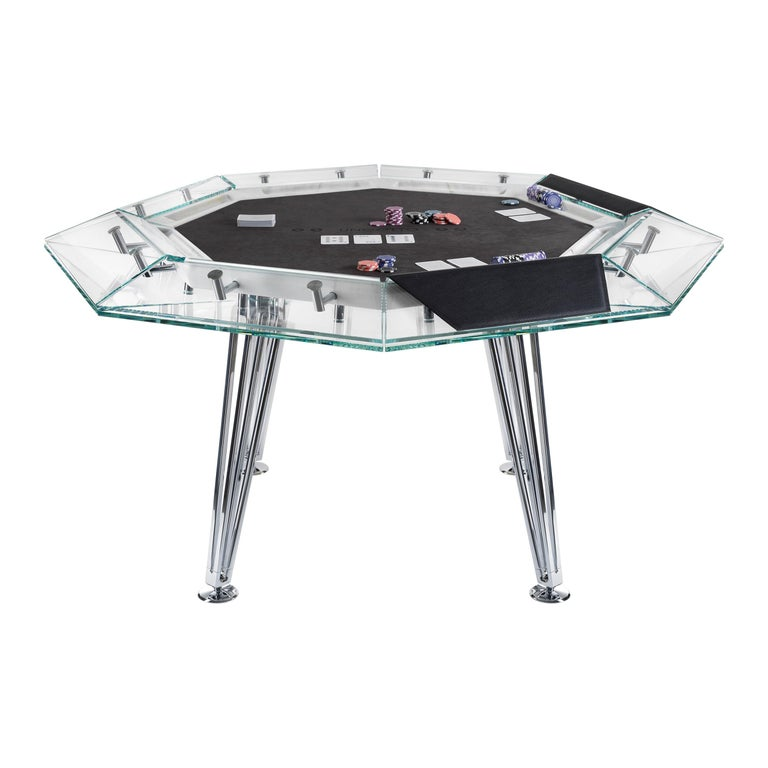 Unootto Marble Edition, 8 Player Poker Table, by Impatia For Sale