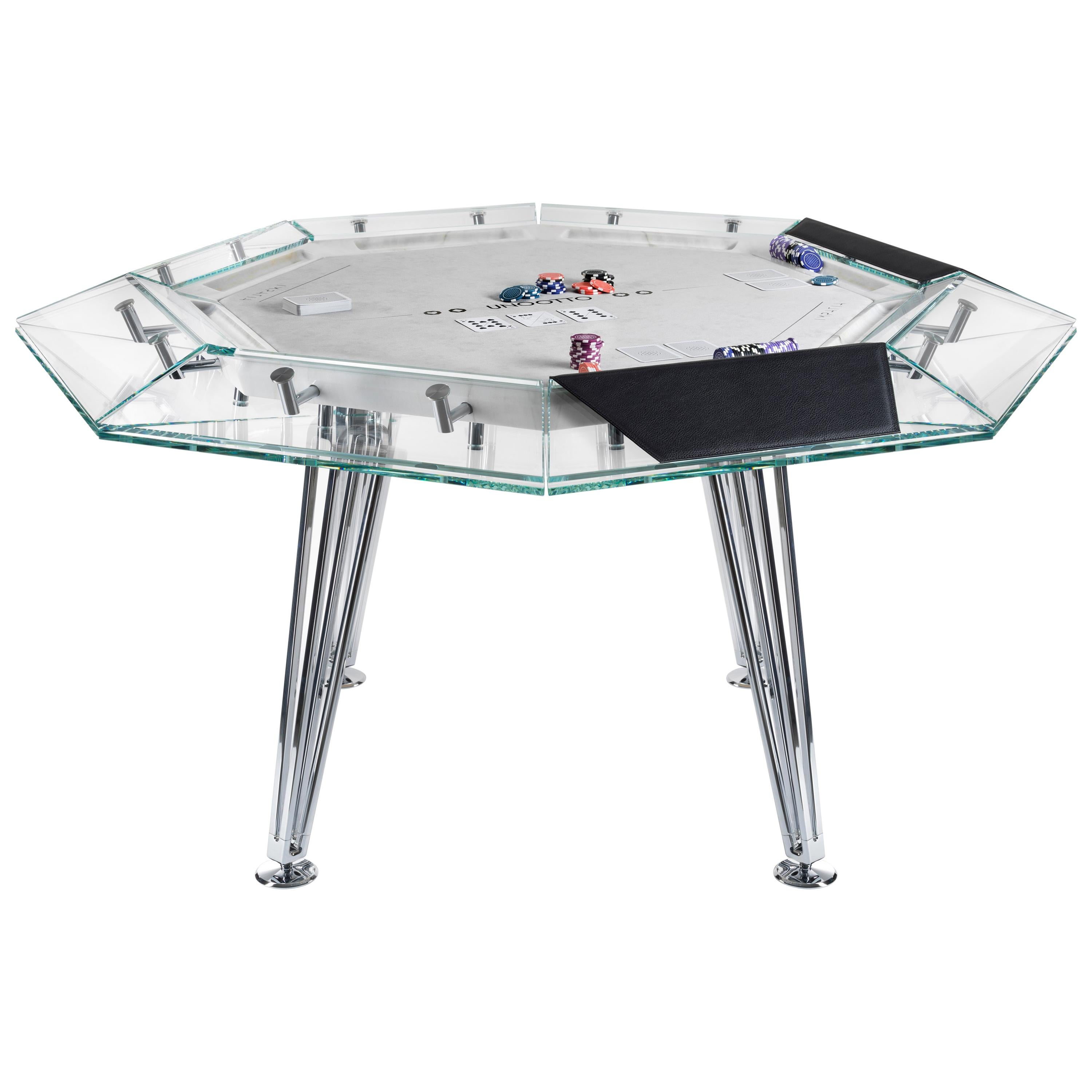 Unootto Marble Edition 8 Player Poker Table by Impatia