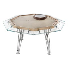 Unootto Wood, 8 Players, Contemporary Design Poker Table by Impatia