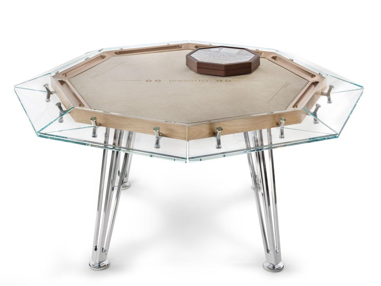 Modern Unootto Wood Edition 8 Player Poker Table by Impatia For Sale