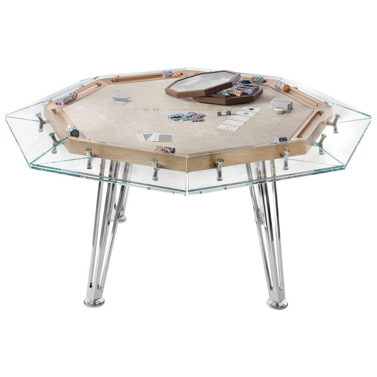 Unootto Wood Edition 8 Player Poker Table by Impatia For Sale
