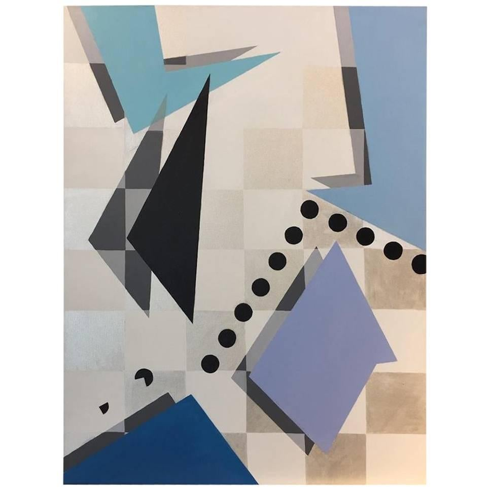 """""""Unpredictable"""" 2016 Geometrical Acrylic in pastell Canvas by Cecilia Setterdahl"""