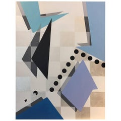 """Unpredictable"" 2016 Geometrical Acrylic in pastell Canvas by Cecilia Setterdahl"