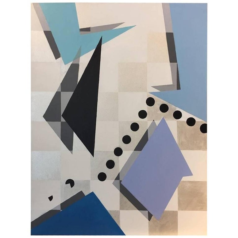 """Unpredictable"" 2016 Geometrical Acrylic in pastell Canvas by Cecilia Setterdahl For Sale"