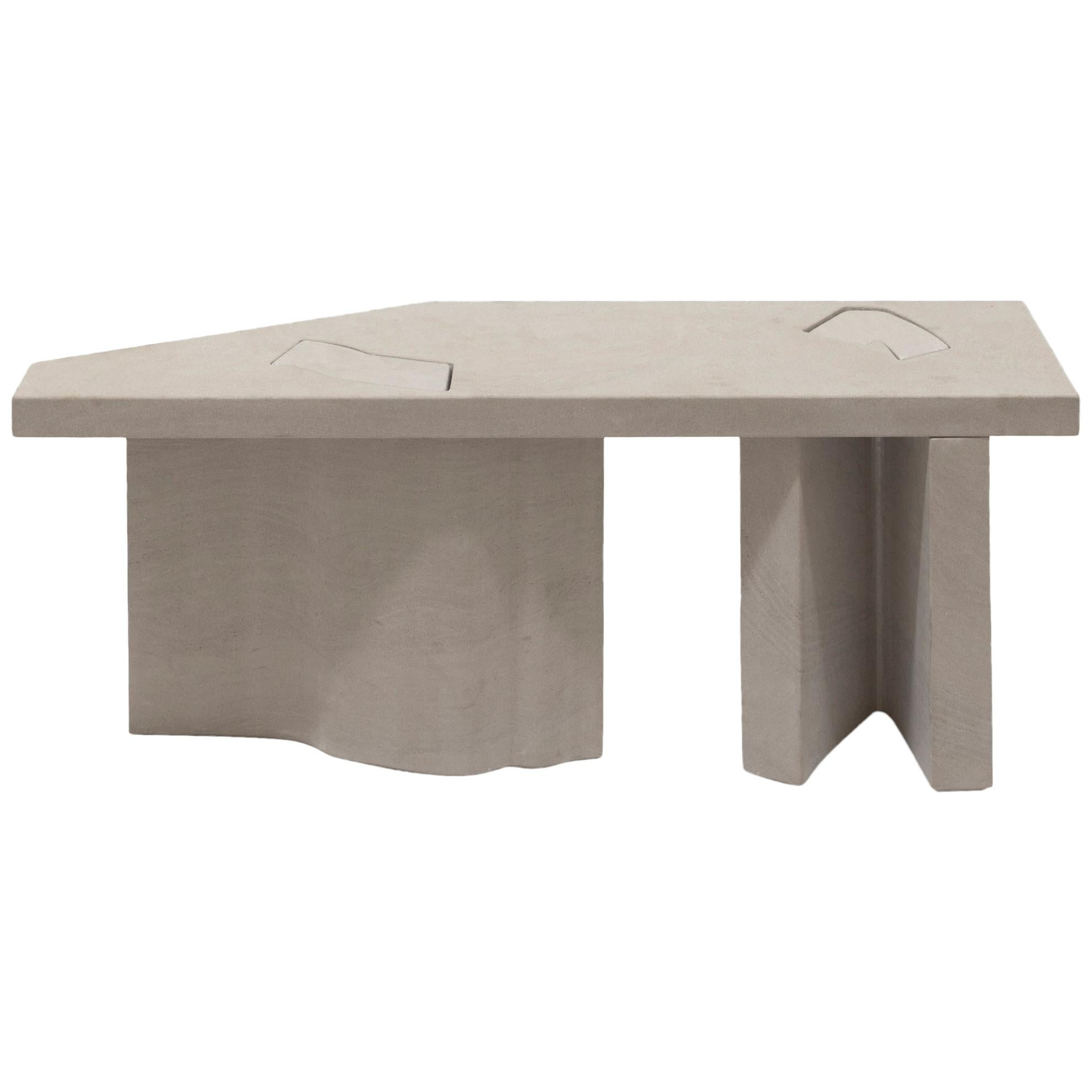 Unsighted Table 1 by Bahraini-Danish in Giallo Avorio Marble