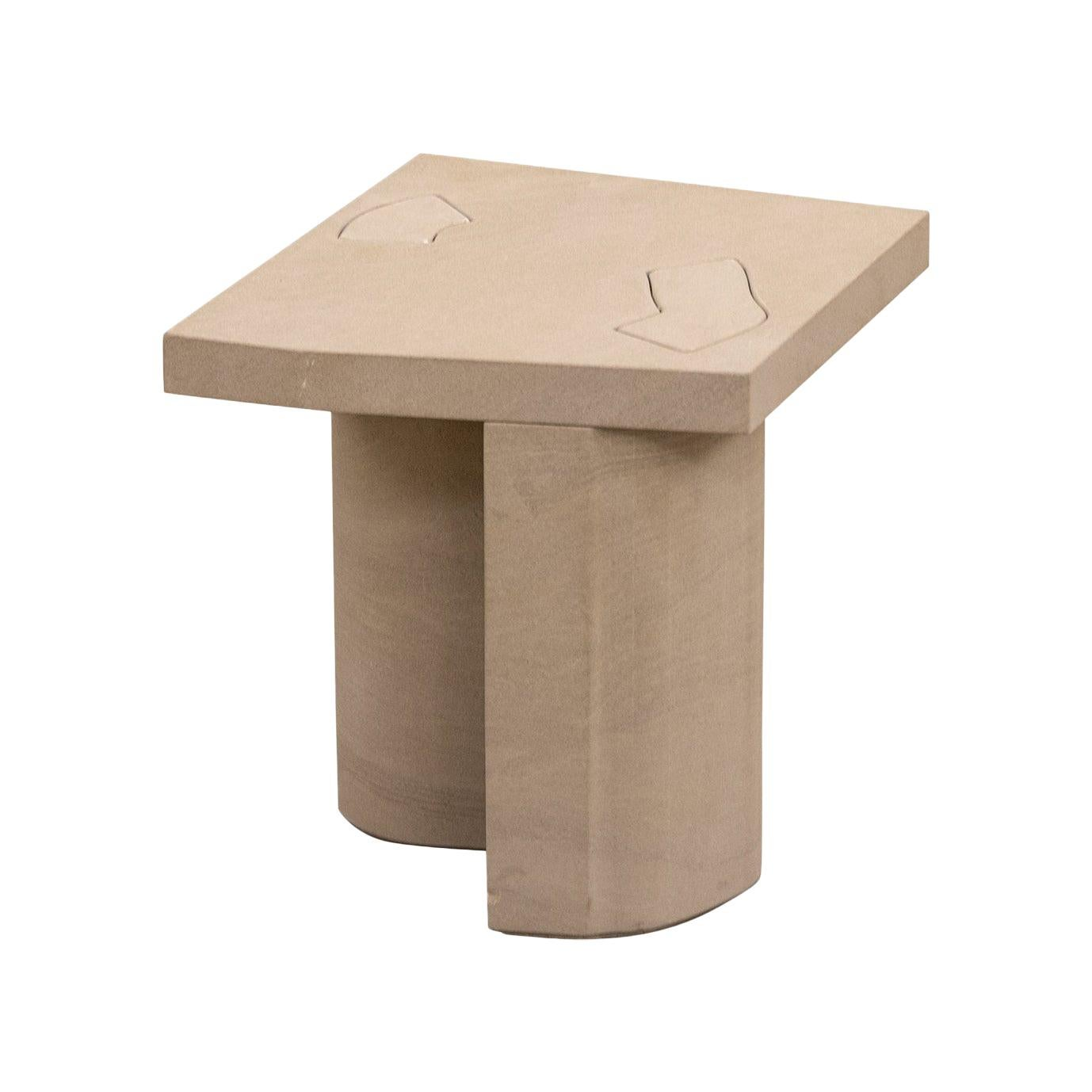 Unsighted Table 3 by Bahraini-Danish in Giallo Avorio Marble