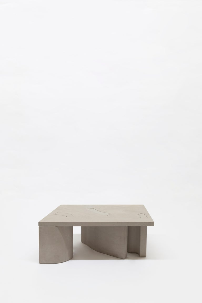 Unsighted Table 5 by Bahraini-Danish in Giallo Avorio Marble In New Condition For Sale In Pireaus-Athens, Greece